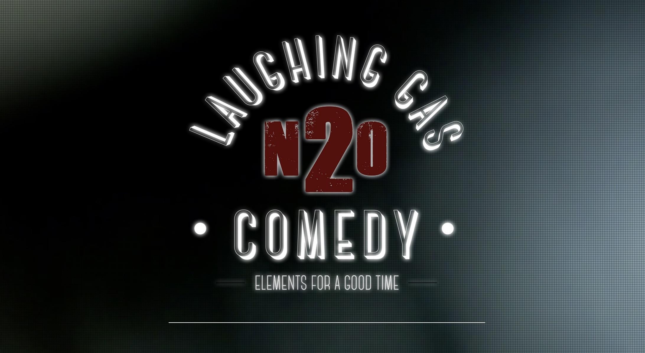laughing gas comedy club logo